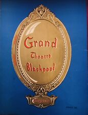 """ALFIE"" TOUR GRAND THEATRE BLACKPOOL 1968 RICHARD FRASER SIGNED PROGRAMME ."