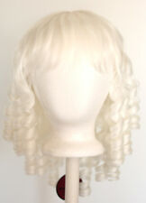 14'' Ringlet Curly Shoulder Length w/ Short Bangs Snow White Wig Lolita NEW