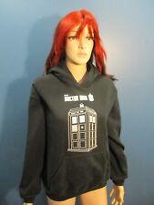 M black DR. WHO TARDIS SWEATSHIRT hoodie by RIPPLE JUNCTION