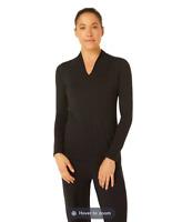 RRP - £48.00 M Life Women's Solstice Long Sleeve Top, Black, Size 14