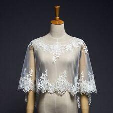 Vintage Wedding Bridal  Ivory Lace Sleeveless Wraps Cloak Jackets Shawl