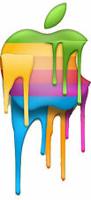 "Rainbow Drip Apple Logo Macbook Air Pro 13"" 15"" 17"" Removable Sticker Decal Retr"