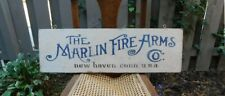 VINTAGE REPLICA TRADE SIGN -  MARLIN ARMS - LOGO FROM 1897 CATALOG COVER