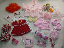 Build A Bear Workshop 27 piece clothes lot and accessories Cheer and Spa Day Vtg
