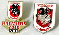 ST GEORGE DRAGONS PREMIERS 2010 & TEAM LOGO PIN BADGES