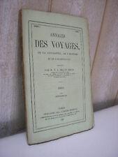 MALTE-BRUN Nouvelles annales des voyages  septembre 1866 les arabes en Italie