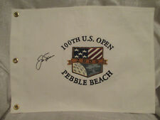 Jack Nicklaus Signed 2000 100th US Open Canvas Flag Last US Open Masters Champ