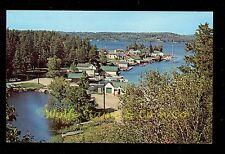 Nice Chrome Postcard Birdseye View of Crane Lake Village Crane Lake MN B2487