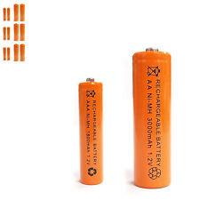 6 AAA 6 AA 1800mAh 3000mAh Ni-MH rechargeable battery Solar Light MP3 Orange