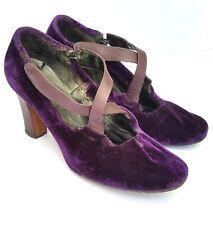 Purple Velvet Vintage Pumps Shoes 1940s 1950s 1960s