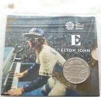 2020-II Royal Mint Music Legends Elton John Dodgers Stadium £5 Five Pound Coin