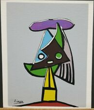 """Pablo Picasso Vintage Plate Signed Serigraph 10""""×8.5"""""""