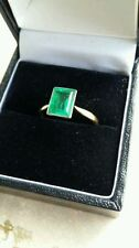 Emerald Solitaire Engagement Fine Rings