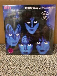 KISS, CREATURES OF THE NIGHT Purple VINYL LP VINNY VINCENT JACKET NEW