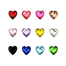 Top Nail 1pcs 3D Nail Art Wheel Acrylic Heart Crystal Rhinestone Manicure ZP107