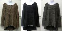 New Ladies Asymmetrical Long Sleeve Kaftan Top Blouse Size M L XL XXL UK 10 - 24