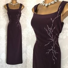 JACQUES VERT Dress SIZE 12/14 Plum OCCASION Wedding Mother Of The Bride.