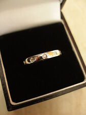 18CT GOLD DIAMOND WEDDING / ETERNITY / DRESS RING MADE BY B&N IN UK BRAND NEW