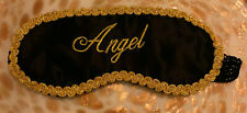 Angel Sleep Sleeping Mask, Satin Padded Eye Cover, Gold Border, Sexy, NEW