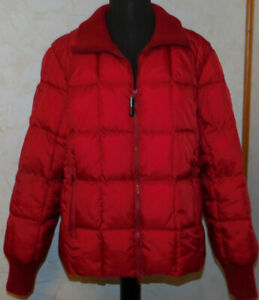 "Tommy Jeans ""US Ski Team"" Red Quilted Puffer Jacket Womens L/XL*"
