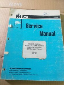 USED TRACTOR INTERNATIONAL 274 284 TRACTOR SERVICE MANUAL