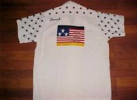 King Louie All Star Frank Dvorak Wiesbaden Flag Vintage 1950s Bowling Shirt S
