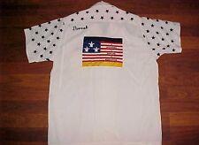 King Louie All Star Frank Dvorak Wiesbaden Flag Vintage 1950s Bowling Shirt S