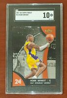 2007-08 Topps Finest #24 Kobe Bryant HOF Lakers PRISTINE SGC 10 GEM MT 💎 💎💎