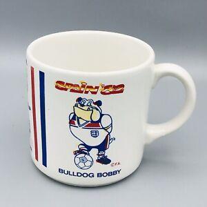 Official 1982 World Cup England Coffee Mug Bulldog Bobby Mascot