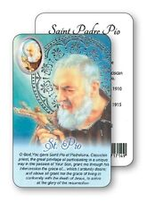 SAINT PADRE PIO PRAYER LAMINATED CARD WITH RESIN DROP PICTURE OTHER ITEMS LISTED