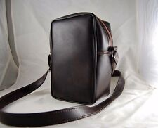 Vintage Brown Faux Leather Camera Bag w/ Strap Shoulder Case Brown