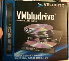 VELOCITY MICRO VMBLUDRIVE Model 103 External USB Blu-Ray Drive NEW