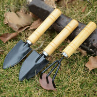 3PC/set Mini Garden Hand Tool Kit Plant Gardening Shovel Spade Rake Bonsai tool