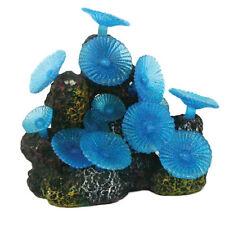 Blue Jelly Mushroom Coral Fish Tank Aquarium Ornament MS239