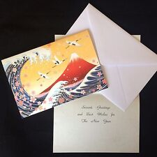 Mt.Fuji and Wave Greeting Card with message sheet and envelope from Japan