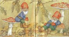 3x Rare napkins Gnomes for collection, decoupage and other crafts