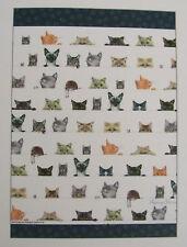 TEA TOWEL - 100% COTTON - PEEPING FELINES - CATS - KITTENS - VERY CUTE