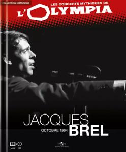 LIVRE + CD AUDIO - LES CONCERTS MYTHIQUES DE L'OLYMPIA, JACQUES BREL / NEUF
