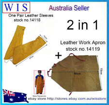 2 in 1 Cow Leather Welding Apron,Welder's Aprons & One Pair Cow Leather Sleeves