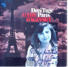 Cover Gaby Baginsky Drei Tage Paris (Mit Original Autogramm) Only Cover