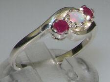Natural Round White Gold Fine Gemstone Rings