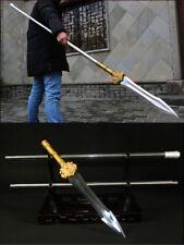 Phoenix spear pike lance High manganese steel Sword Spearhead Steel Handle #041