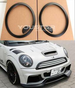 EXPRESS MATT Black Headlight Trims for MINI Cooper R55 R56 R57 R58 R59 Clubman