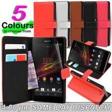 Fundas y carcasas Para Sony Xperia Z de piel sintética para teléfonos móviles y PDAs Sony