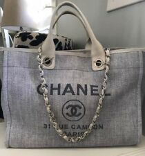 Authentic Chanel Largest Size Deauville Tote / Chanel Diaper / Weekend Bag