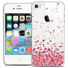 Coque Crystal Pour iPhone 4/4s Extra Fine Rigide Sweetie Heart Flakes
