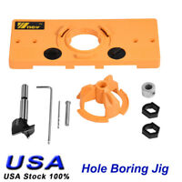 35mm Concealed Hinge Jig Drill Set Door Boring Hole Template For Kreg Guide Tool