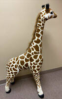 Huge Melissa & Doug Jumbo Plush Giraffe Stuffed Animal Toy 4.5 Feet Tall