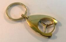 24ct vergoldet Original Mercedes Benz Einkaufswagenchip Schlüsselanhänger 24K