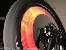 12 BICICLETA Spoke reflectores Rueda Bici ClipOn Reflectante TUBOS Ciclismo
